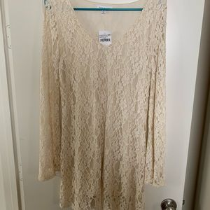 Cream Lace Dress (WEDDING) (WITH TAGS)